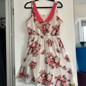 Xhilaration - floral collared dress